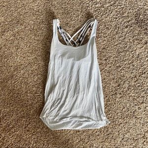 EUC Lululemon Athletica Workout tank top halter 8